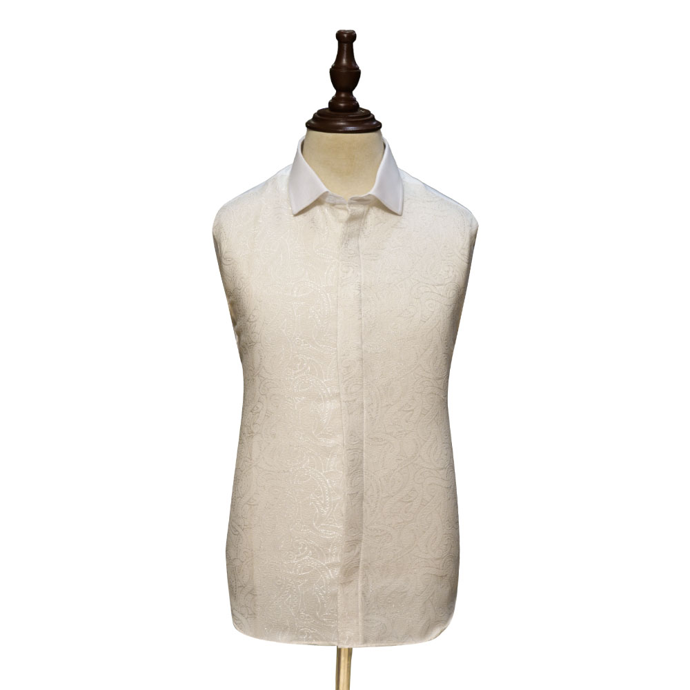 White Textured Shirts For Men Full View